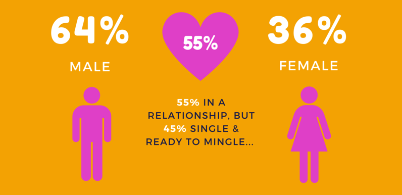 Infographic Section Gender & Relationship Status