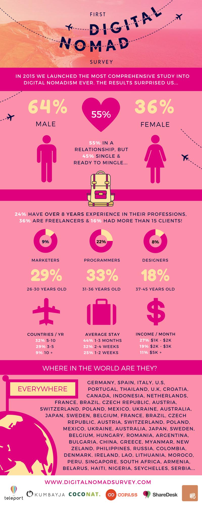 Digital Nomad Survey Infographic